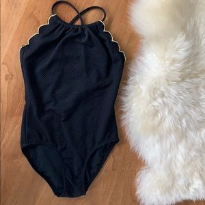 Old Navy black swimsuit.
